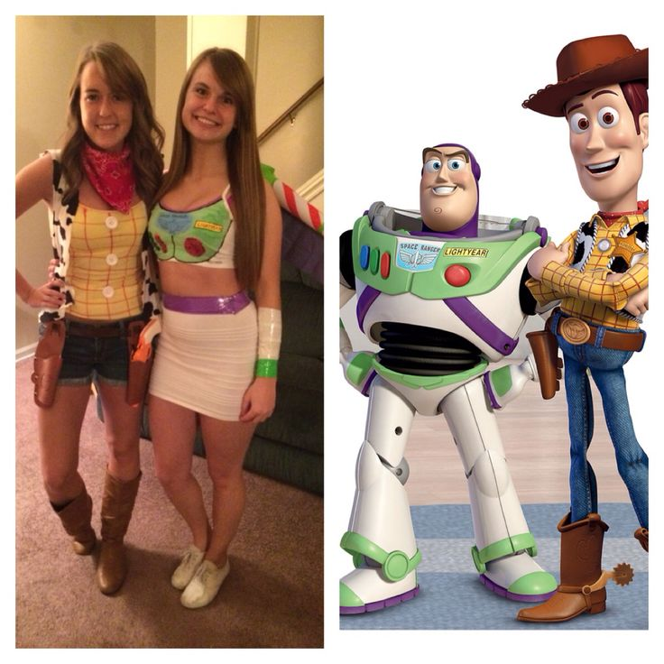 DIY Halloween costume  Buzz and woody Woody And Buzz Couple Costumes