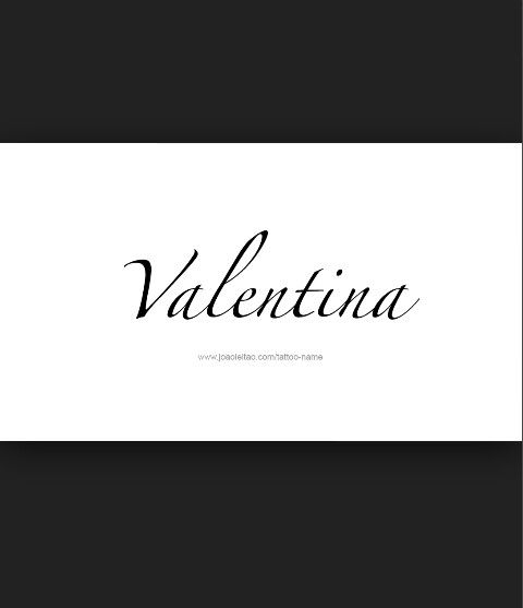 valentina baby girl name
