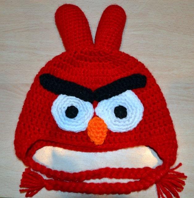 Gorro Tejido Crochet Amigurumi Angry Birds Lana Gorros Tejidos