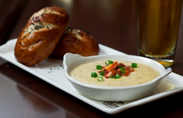 Bacon Fondue - Samuel Adams Boston Lager infused aged cheddar cheese ...