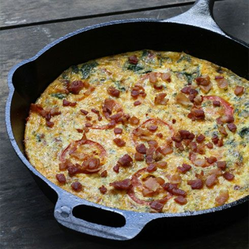 Bacon and leek frittata | Eating local challenge | Pinterest