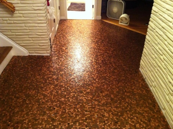 Penny floor home decor architecture pinterest - Floor made out of pennies ...