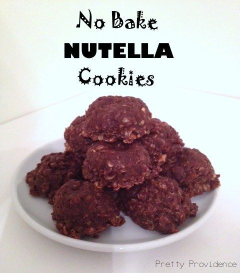 no bake nutella cookies. | Foodie | Pinterest