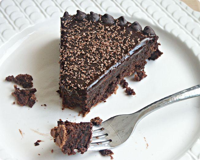 Flourless Chocolate Cake With Chocolate Glaze Recipe — Dishmaps