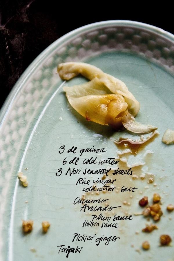 Quinoa Sushi + recipe // Clemmensen&Brok | My Stuff | Pinterest