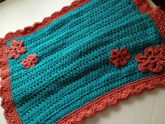 Quick Easy Crochet Patterns For Beginners : CROCHET PATTERN - quick easy beginner flower baby blanket
