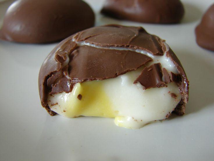 Homemade Cadbury Creme Eggs | Candy... | Pinterest