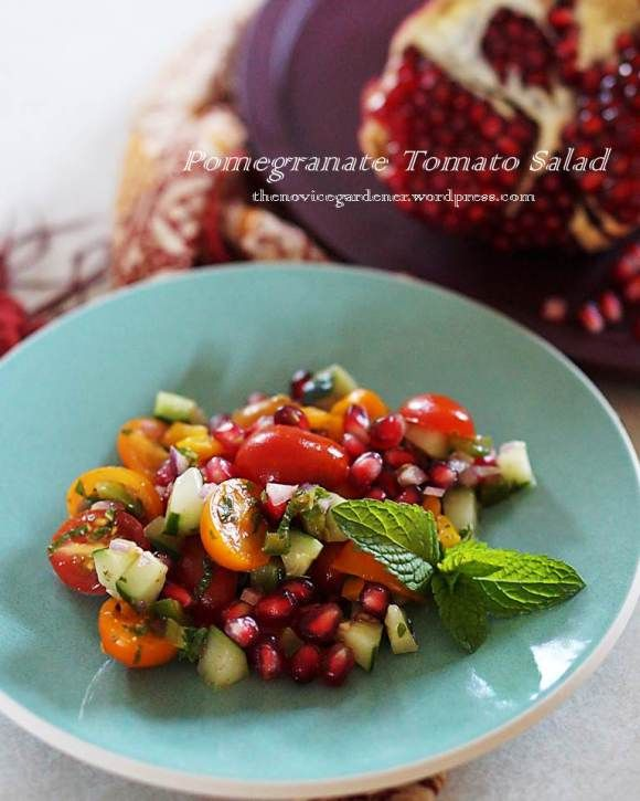 tomato pomegranate salad | food is essential -- make it good! | Pinte ...