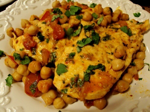 roast chicken with chickpeas and smoked paprika