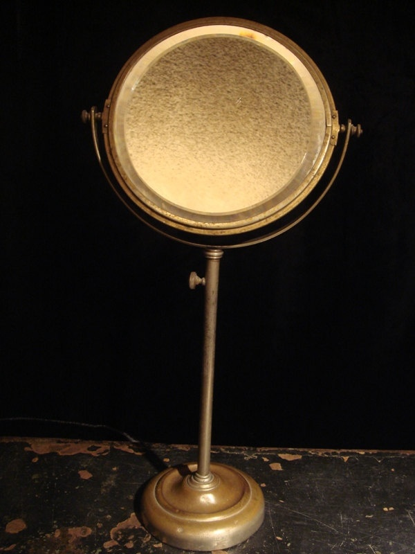Victorian shaving mirror telescoping antique mirror for Shaving mirror