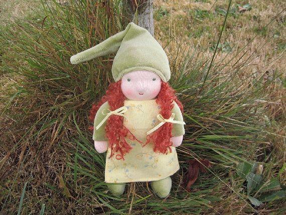 Irish Gnome Doll. ^_^  #Etsy #Gnome #Doll #Waldorf #Cute