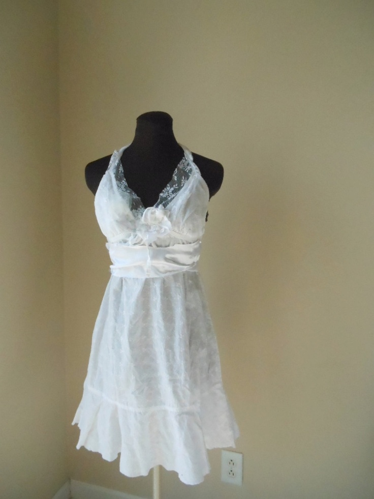 Moonlight Wedding Dress Simple Beach Rustic Garden Fairy Bride Handma
