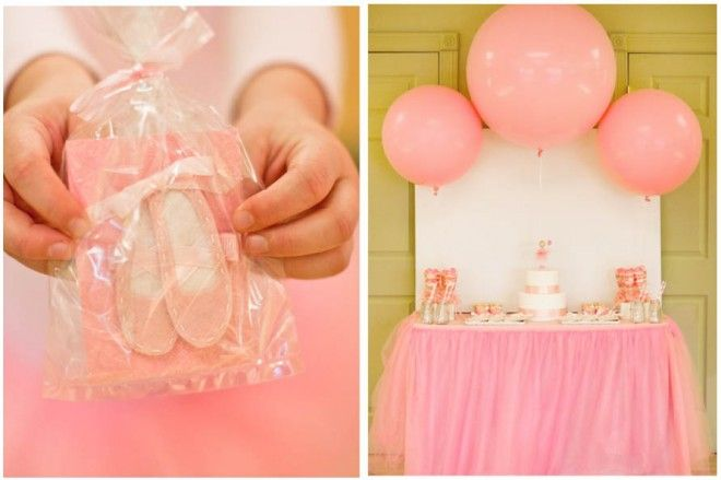 tutu food table with balloons
