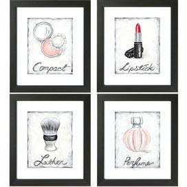 Make up wall art beauty pinterest for Bathroom decor picture frames