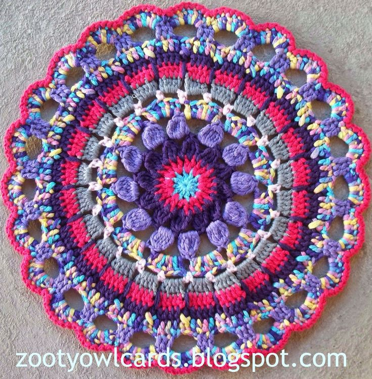 crochet mandala Crochet patterns Pinterest