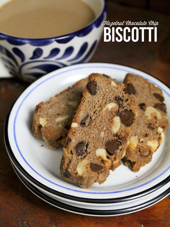Hazelnut Chocolate Chip Biscotti