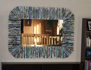 Cómo hacer marco para espejo con revistas usadas | Solountip.com