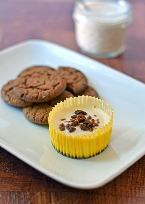 Mini Lemon Cheesecakes with Gingersnap Crust. Perfect for holiday ...