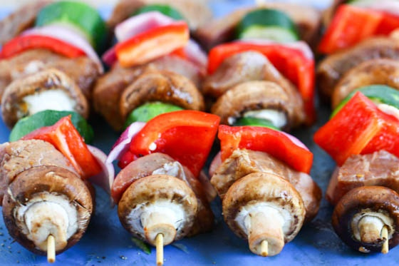 Steak and veggie kabobs - We eat these often at our house!