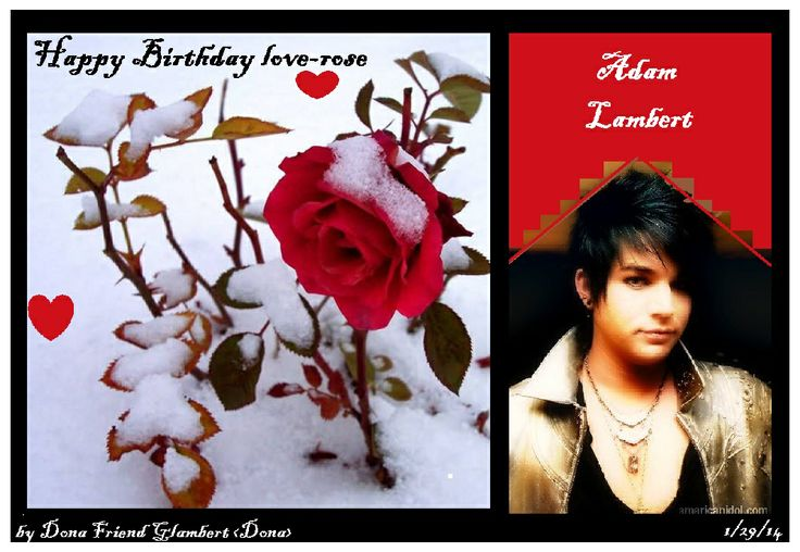 HAPPY BIRTHDAY MADE BY ME DONA FRIEND GLAMBERT from Glam Nation ADMIN.