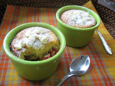 White Chocolate & Raspberry Clafoutis individuals