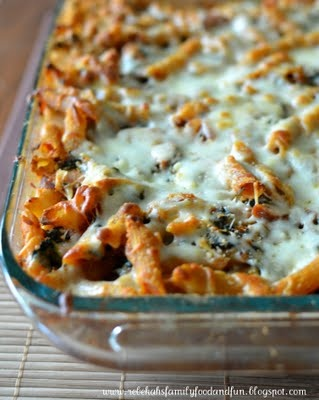Baked pasta with chicken sausage   sausages   Pinterest