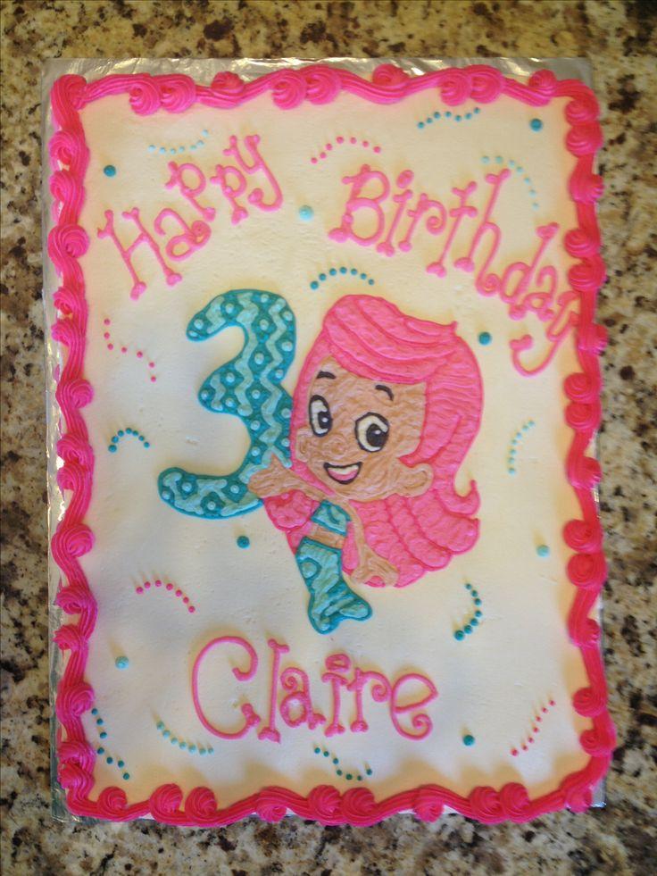 Bubble Guppies cake  1/2 sheet chocolate & white $60  Call Jaci @ 740-272-2692 to order Delaware, Ohio