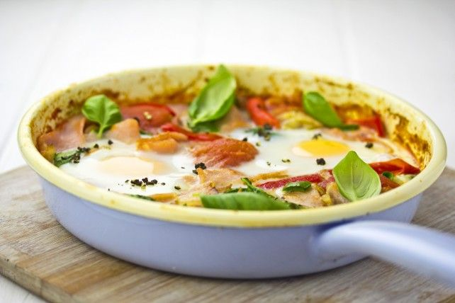 Baked Egg with Bacon and Spinach   Breakfast - or not!   Pinterest