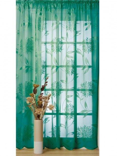 Curtains Ideas voile curtain : teal green curtain panel | Colour Inspiration: Teal | Pinterest
