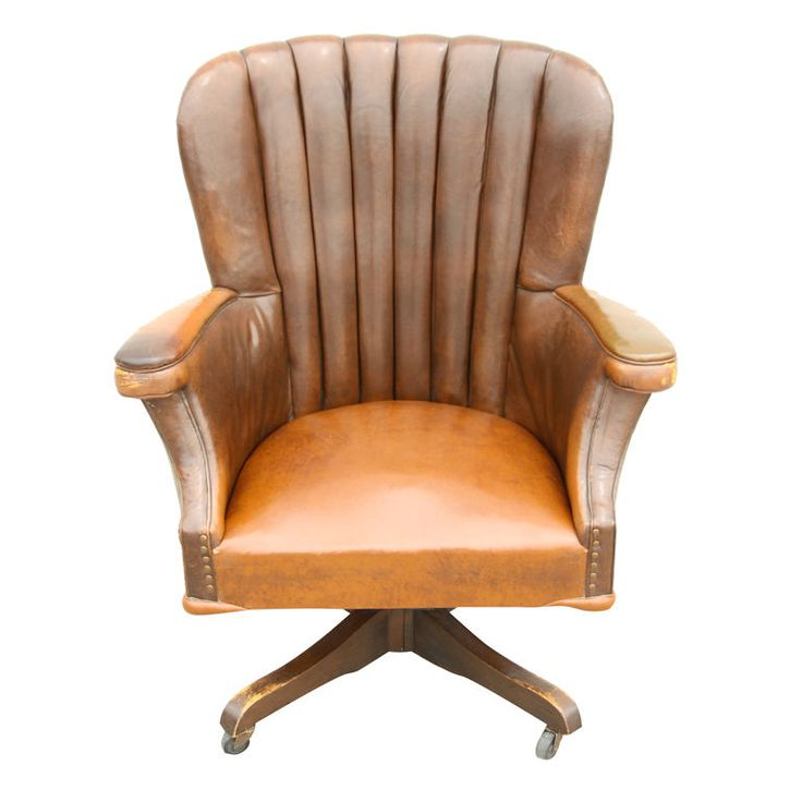 vintage leather office chair study home office pinterest