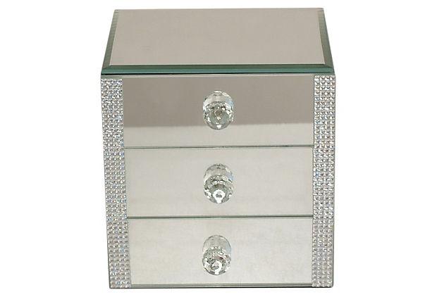 Mirrored jewelry box xs for Mirror jewelry box