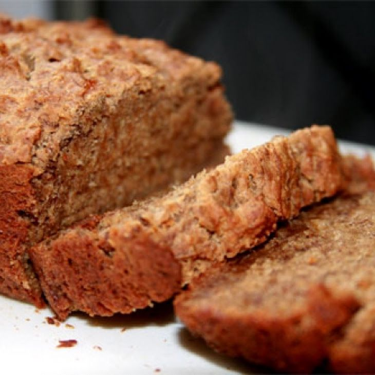 Janet's Rich Banana Bread Recipe I mashed the bananas not sliced.