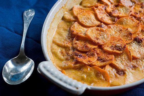 Spicy Sweet Potato Gratin