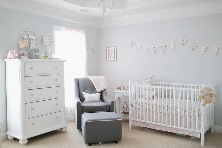 We couldn't love this nursery more! Simple, clean and bright. #nursery