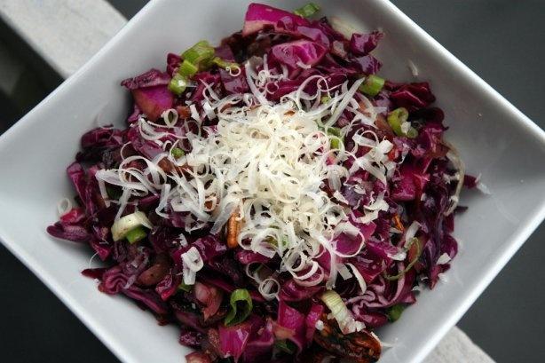 Warm Red Cabbage Salad | recipies | Pinterest