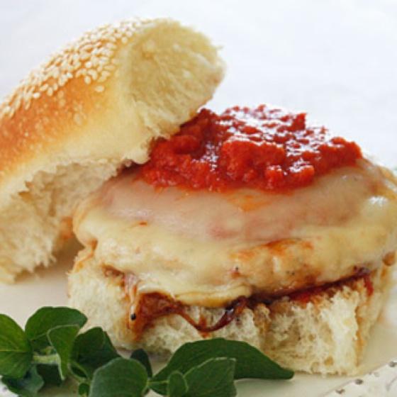 ... http://www.skinnytaste.com/2011/05/chicken-parmigiana-burgers.html?m=1
