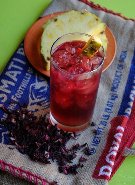 Hibiscus – Pineapple Rum Punch | Drinks | Pinterest