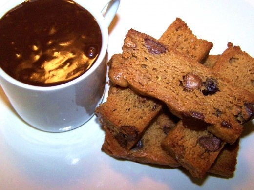 Peanut Butter Chocolate Chip Biscotti and Chocolate Peanut Butter Gan ...