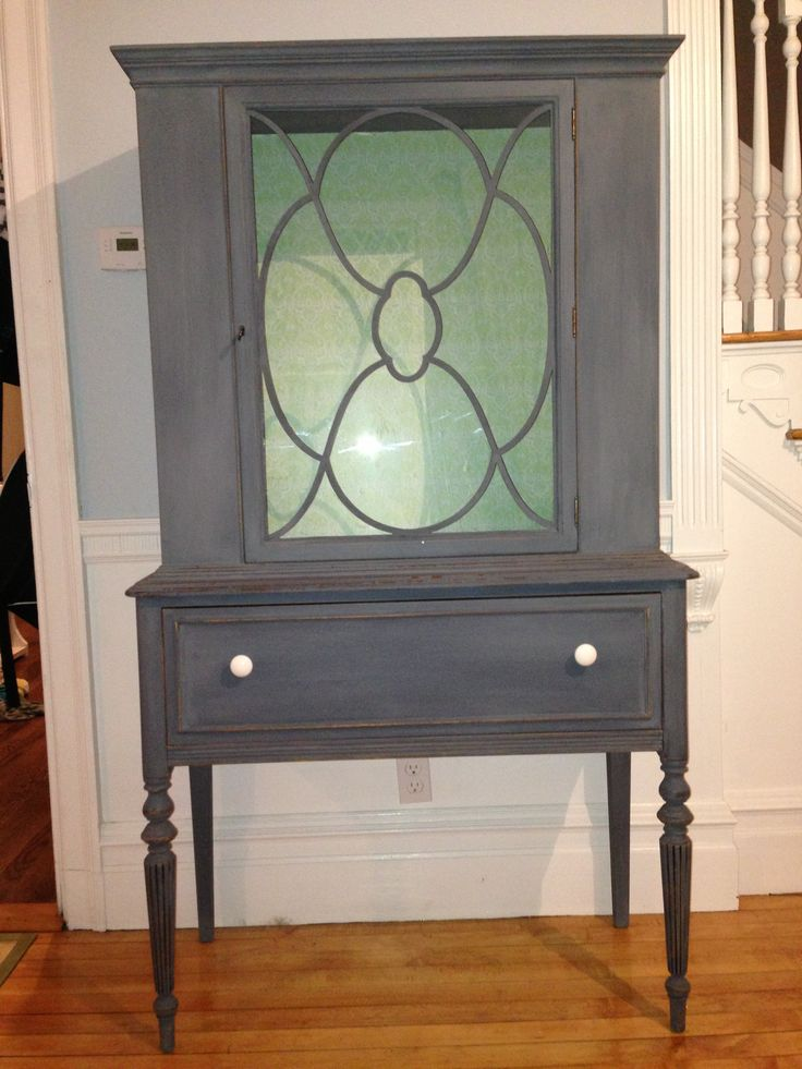 Antique China Cabinet Refinished In Milk Paint Www