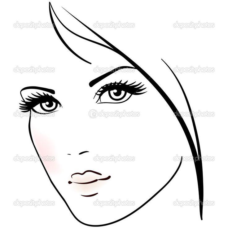 Раскраски красивые лица