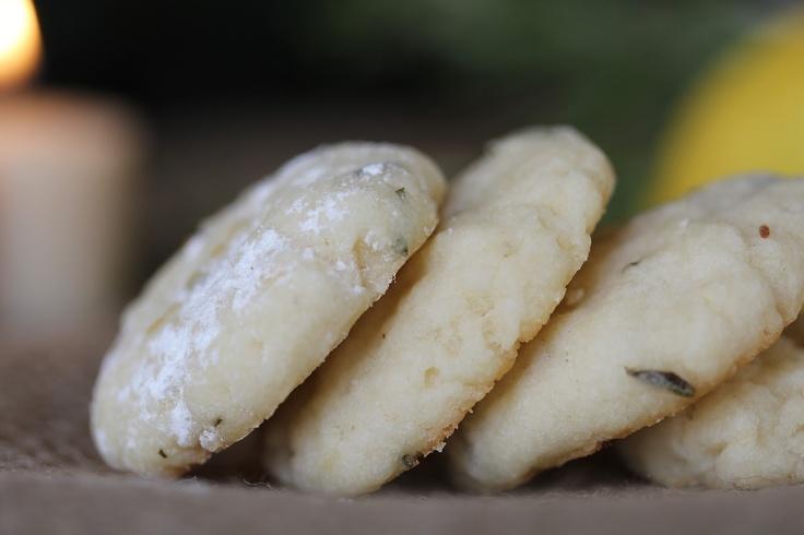 Rosemary Lemon Shortbread Cookies | Recipe