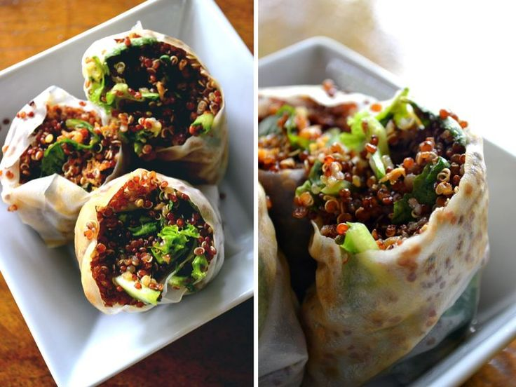 Sesame Quinoa Spring Rolls - scroll down for recipe in English