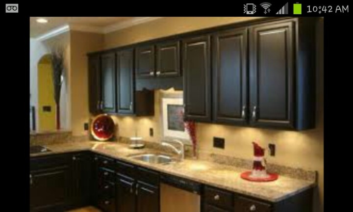 black cabinets yellow wall kitchen for the home 3 pinterest