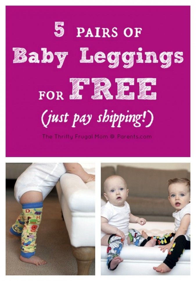 5 Pairs of Baby Leggings for FREE- just pay shipping!  With over 70 styles to choose from you're sure to find something you like. (These would make great baby gifts!)