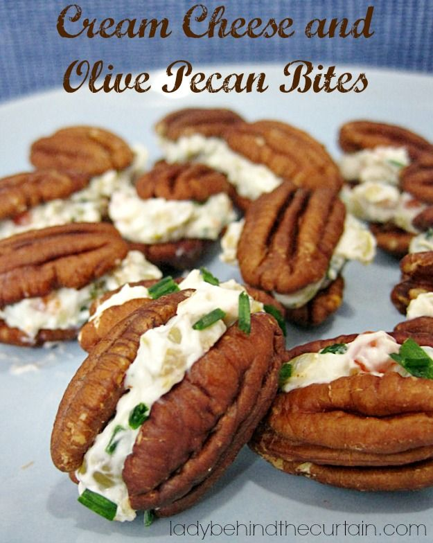 Cream Cheese and Olive Pecan Bites ~