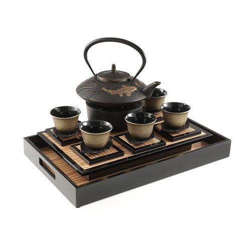 Teavana koi prosperity cast iron tea set tea time pinterest - Teavana teapot set ...