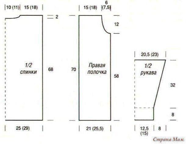 Схемы вязания кардиганов спицами из альпаки на