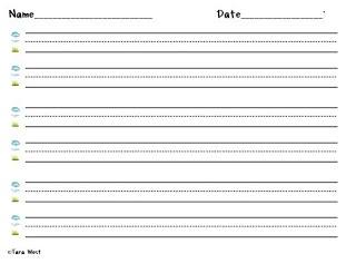free handwriting paper for kindergarten