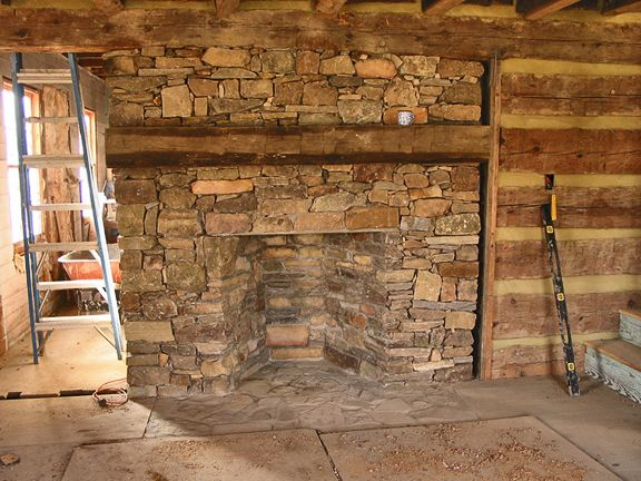 Stone Fireplace Log Cabin Inspiration Pinterest
