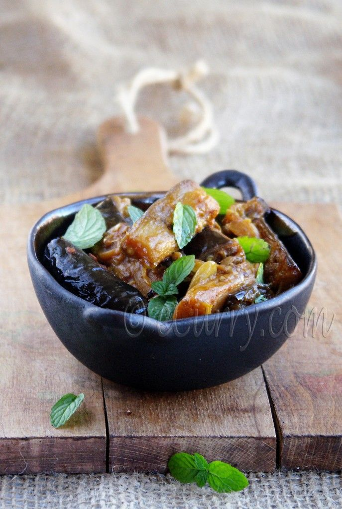 Eggplant with Tomato, Garlic and Mint | veggie entres | Pinterest